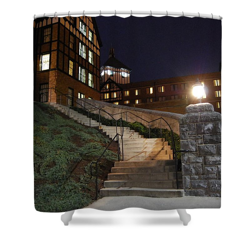 Steps Shower Curtain featuring the photograph Roanoke Steps by Eric Liller