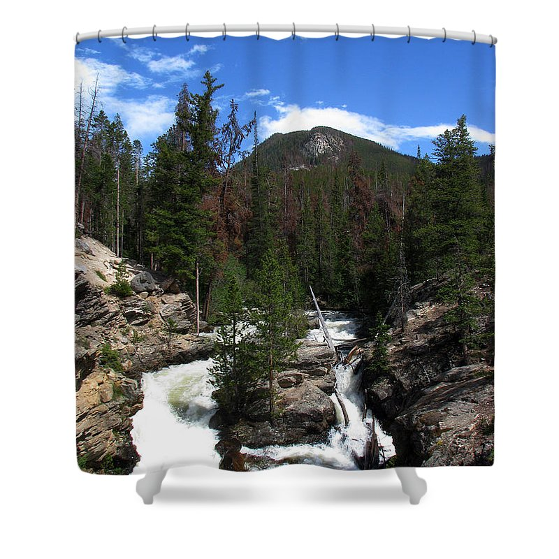 Colorado Shower Curtain featuring the photograph Roar by Amanda Barcon