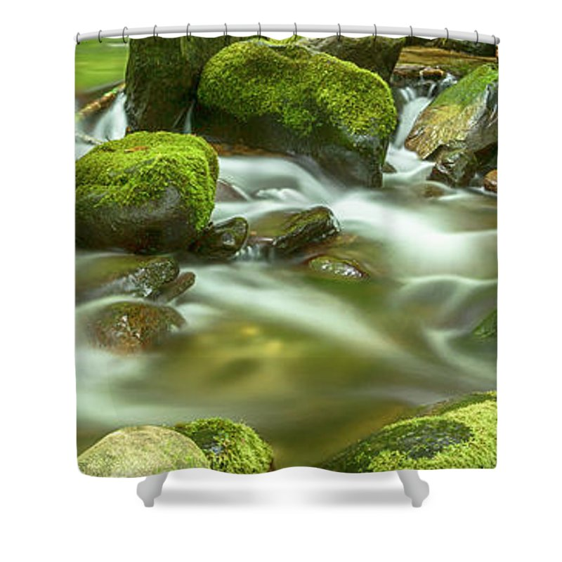 Roaring Fork Shower Curtain featuring the photograph Roaring Fork Cascade by Stephen Stookey