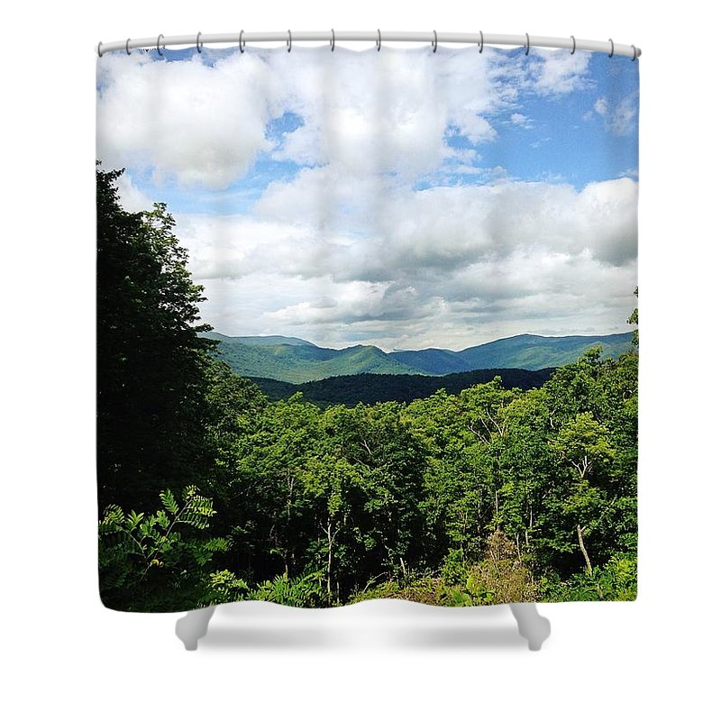 Mountain Shower Curtain featuring the photograph Roaring Fork Motor Trail by Avery French