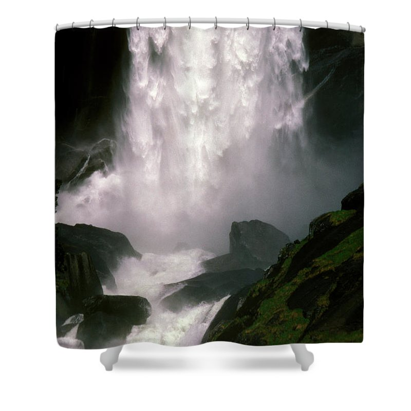 Waterfalls Shower Curtain featuring the photograph Roaring Thunder by Paul W Faust - Impressions of Light