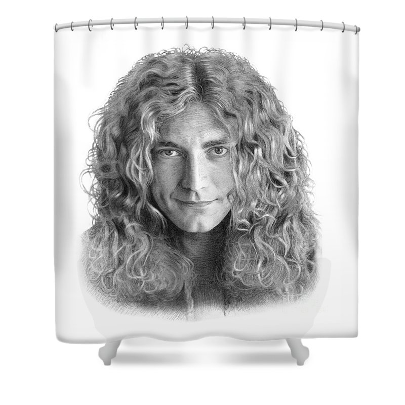 Robert Plant Shower Curtain Featuring The Drawing Led Zeppelin Singer 1970 By Vlado Ondo