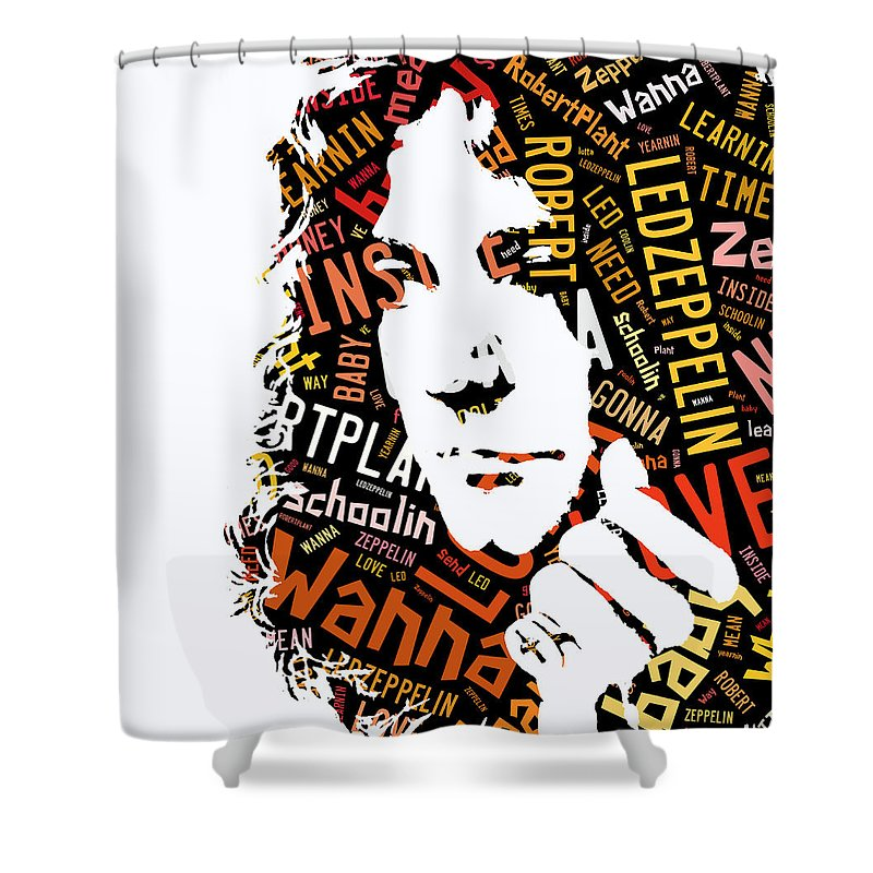 Led Zeppelin Shower Curtain Featuring The Mixed Media Robert Plant Whole Lotta Love By Marvin Blaine