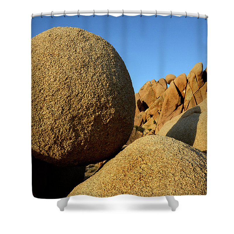 Joshua Tree National Park Shower Curtain featuring the photograph Rock And Roll by Bob Christopher