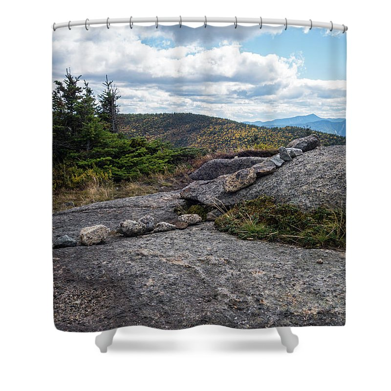 Cascade Shower Curtain featuring the photograph Rock Boundaries On Casecade Mountain Keene Ny New York by Toby McGuire