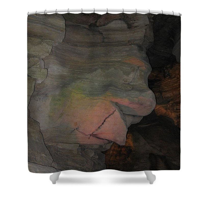 Rock Shower Curtain featuring the photograph Rock Face by Denise Keegan Frawley