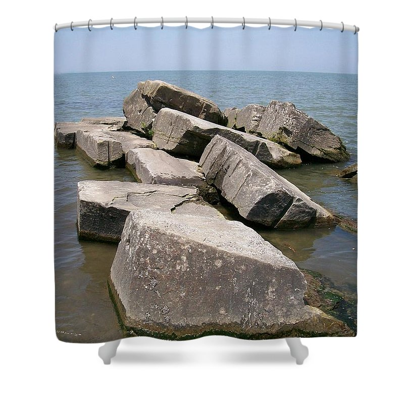 Rocks Shower Curtain featuring the photograph Rock Fortress by Sara Raber