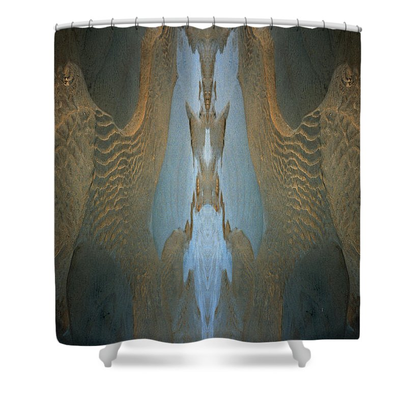 Rocks Shower Curtain featuring the photograph Rock Gods Seabird Of Old Orchard by Nancy Griswold