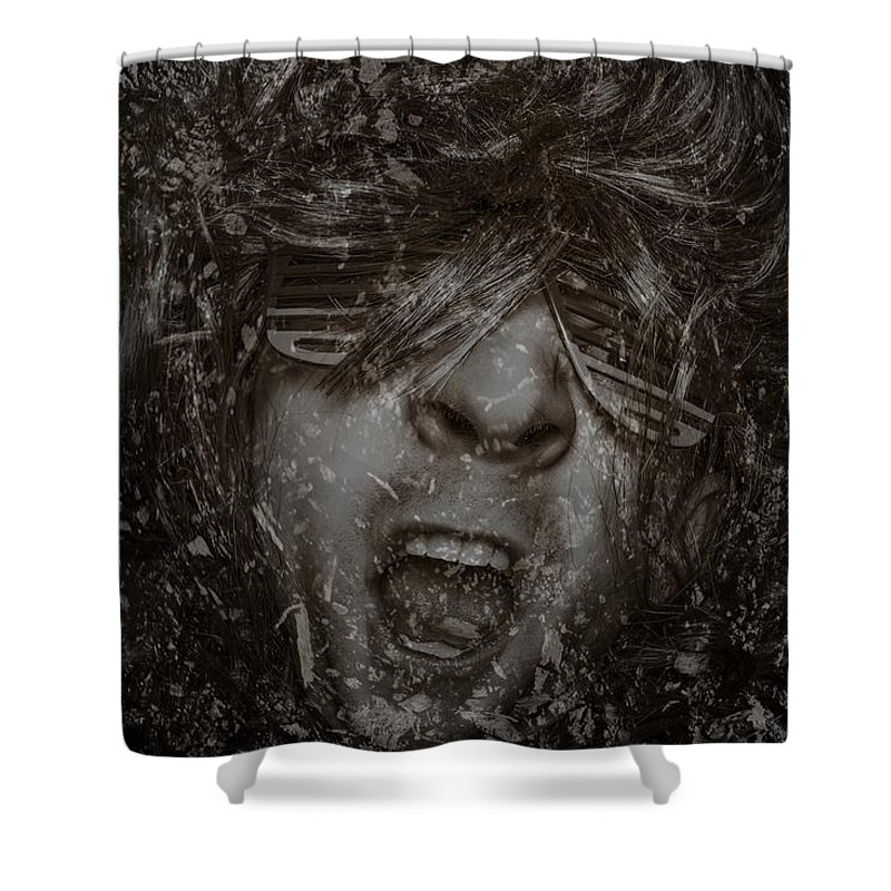Rock And Roll Shower Curtain featuring the photograph Rock by Movie Poster Prints