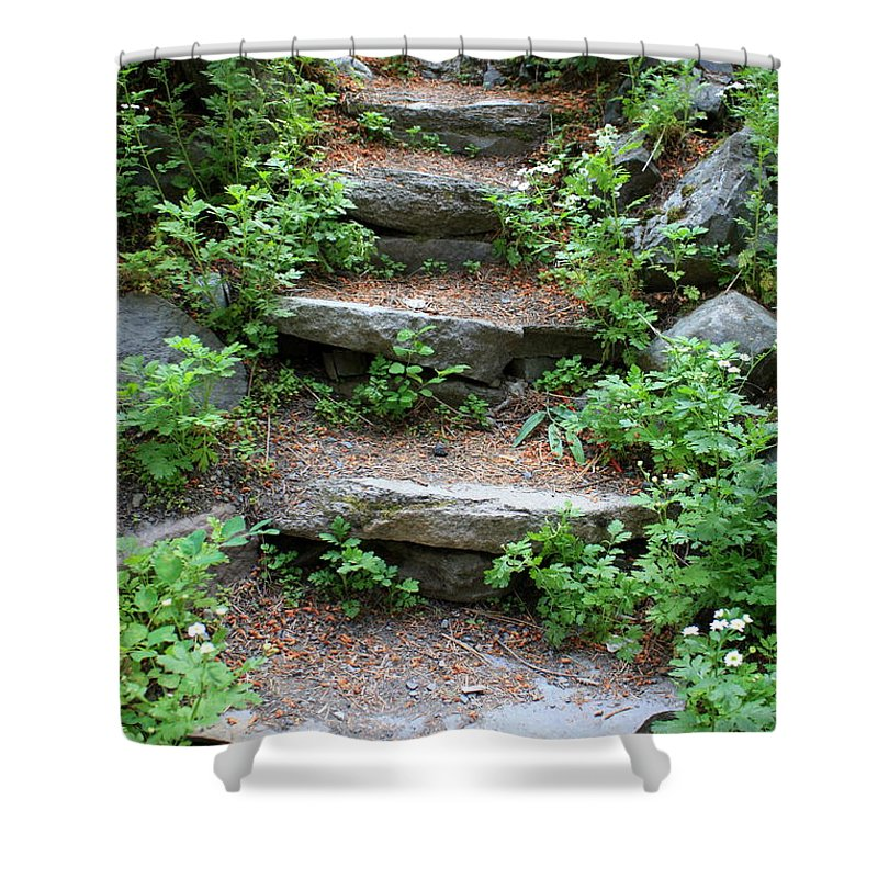 Rock Stairs Shower Curtain featuring the photograph Rock Stairs by Carol Groenen