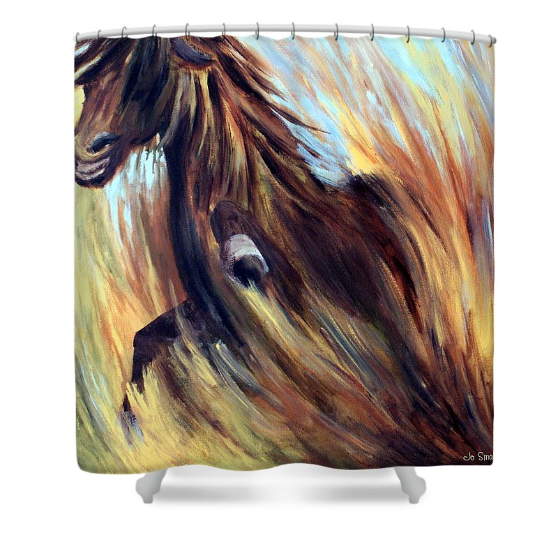 Horse Shower Curtain featuring the painting Rock Star by Joanne Smoley