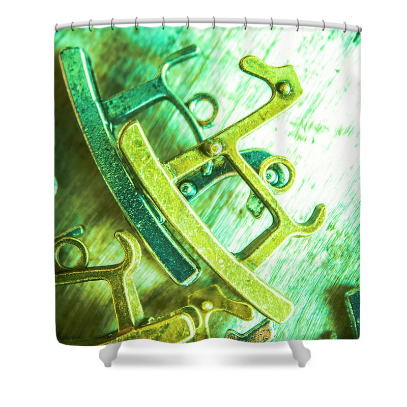 Rocking Horse Shower Curtain featuring the photograph Rocking Horse Metal Toy by Jorgo Photography - Wall Art Gallery