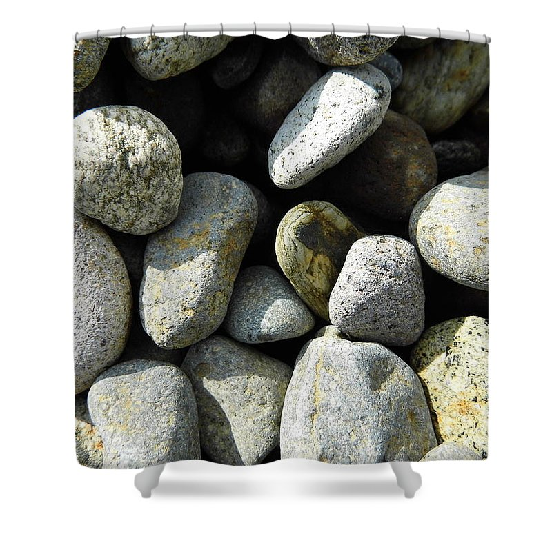 Rock Shower Curtain featuring the digital art Rocks by Palzattila