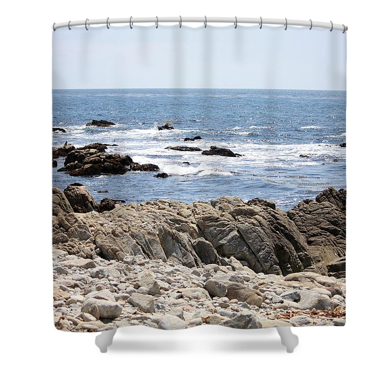 California Shower Curtain featuring the photograph Rocky California Coastline by Carol Groenen