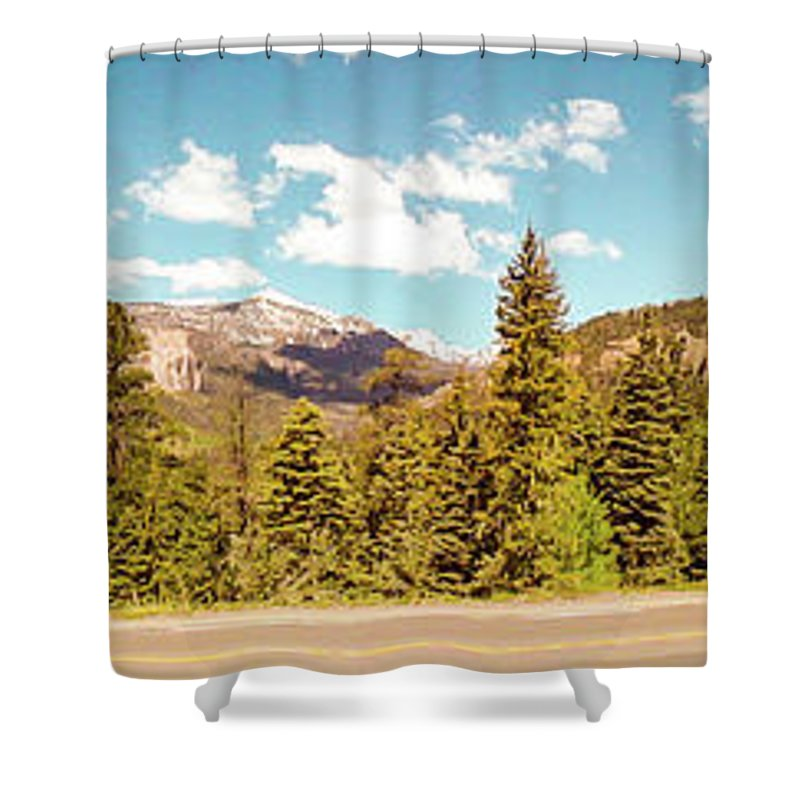 Colorado Shower Curtain featuring the photograph Rocky Mountain Panorama by George Lehmann