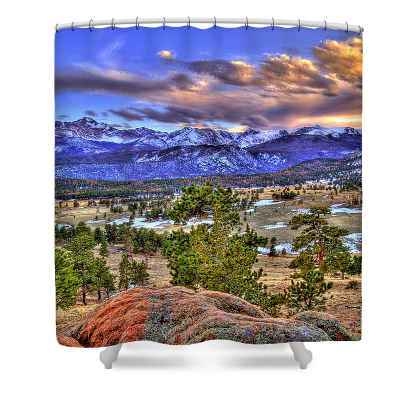 Colorado Shower Curtain featuring the photograph Rocky Mountain Sunset by Scott Mahon