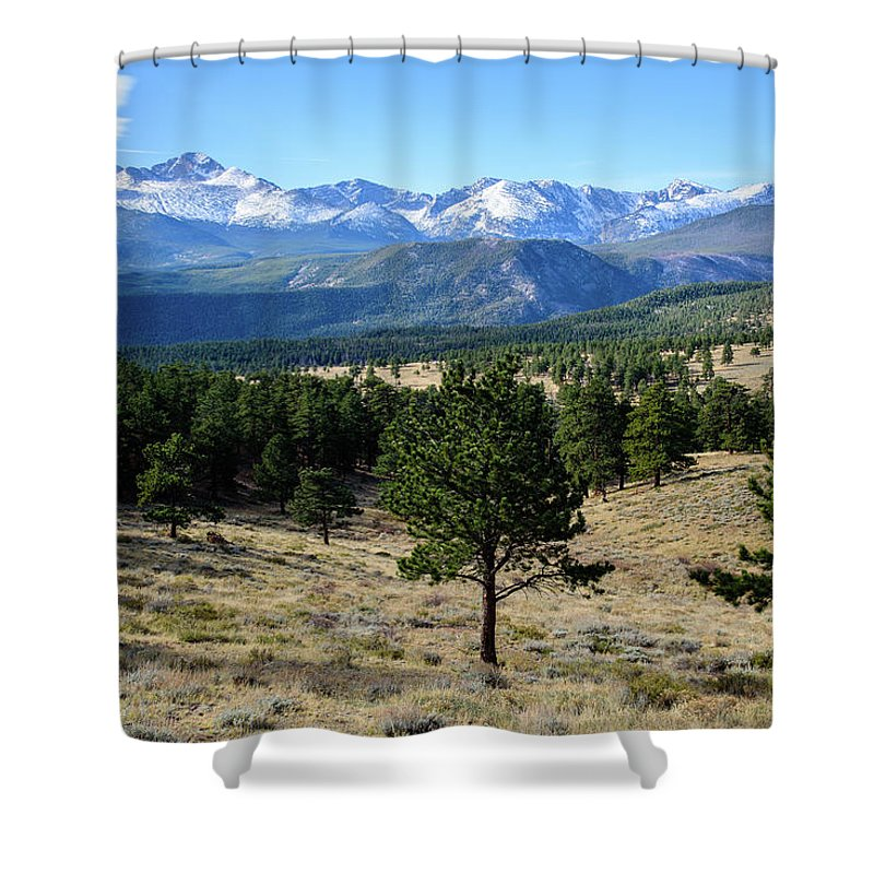 Mountain Shower Curtain featuring the photograph Rocky Mountain View by Paul Moore