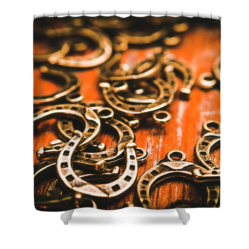 Metal Shower Curtain featuring the photograph Rodeo Abstract by Jorgo Photography - Wall Art Gallery