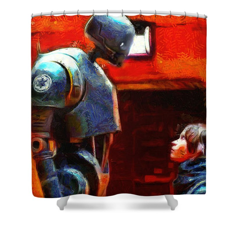 Rogue One Shower Curtain featuring the painting Rogue One I Will Not Kill You - PA by Leonardo Digenio