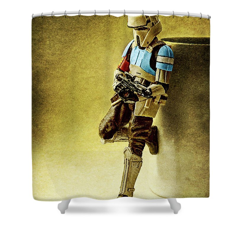 Rogue One Shower Curtain Featuring The Digital Art Scarif Stormtrooper By Weston Westmoreland