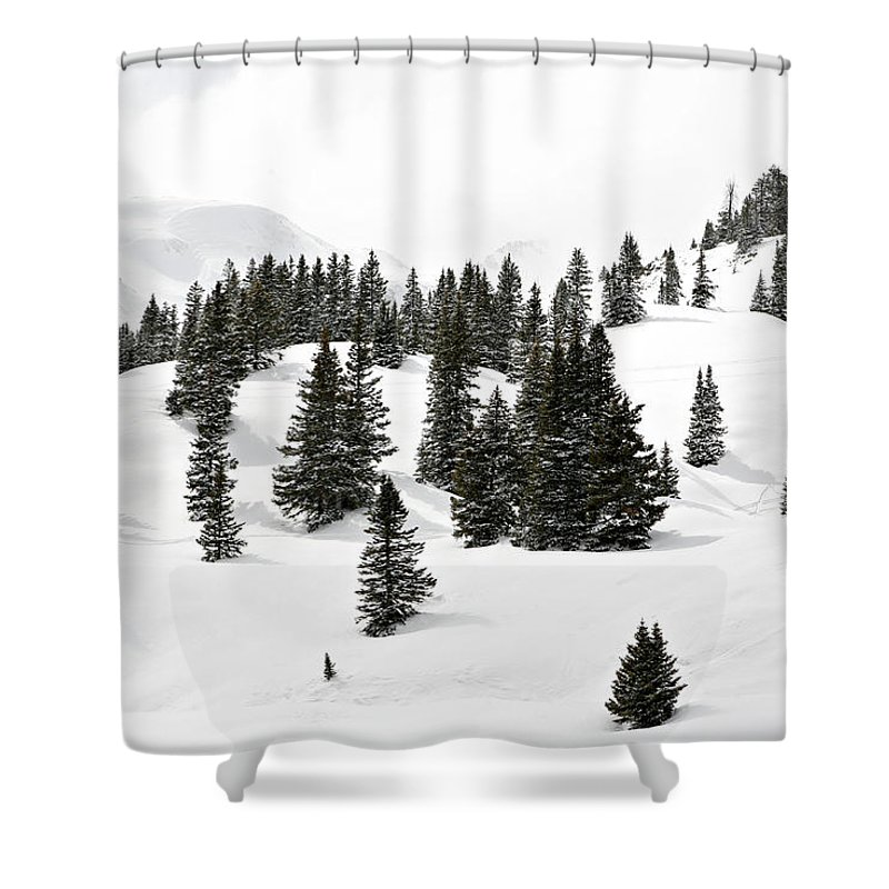 Rolling Hills Shower Curtain featuring the photograph Rolling Hills by Marilyn Hunt