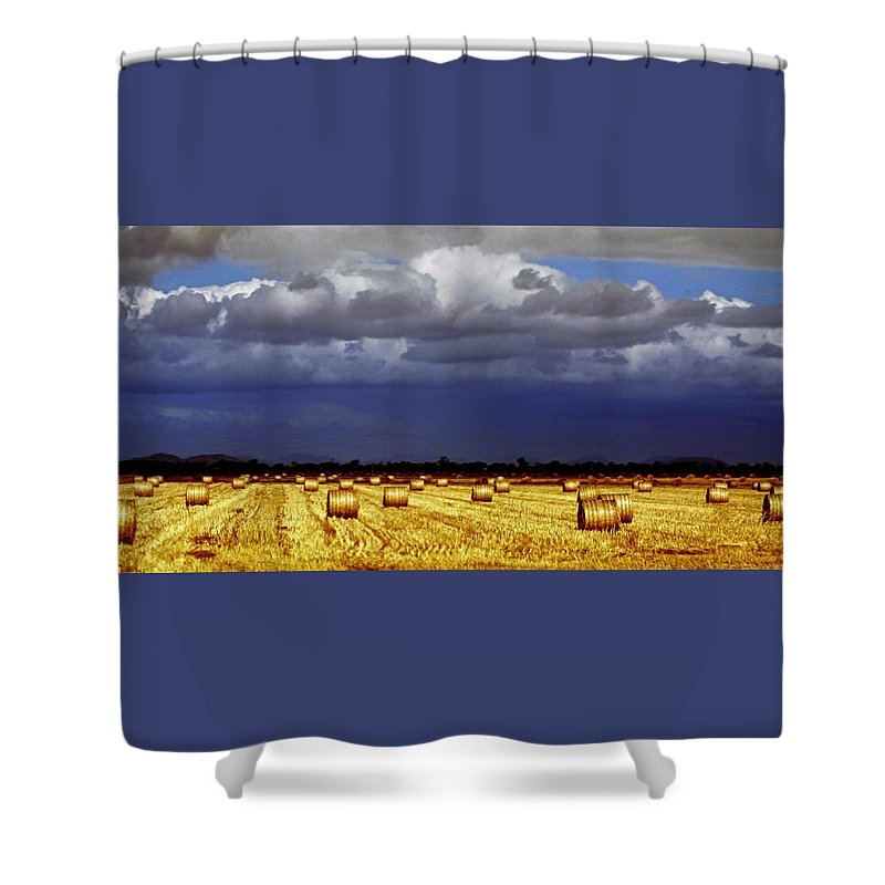 Landscape Shower Curtain featuring the photograph Rolling On by Holly Kempe