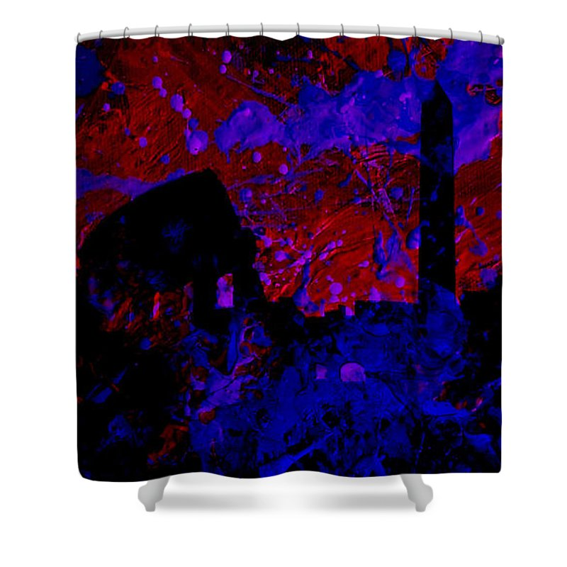 Rome Shower Curtain featuring the mixed media Roma by Brian Reaves