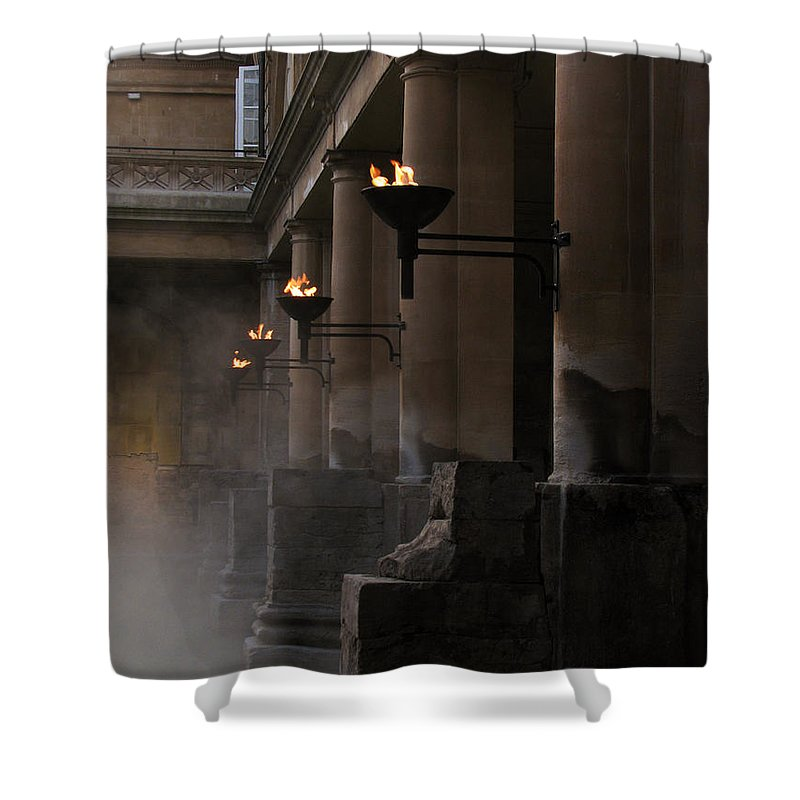Bath Shower Curtain featuring the photograph Roman Baths by Amanda Barcon