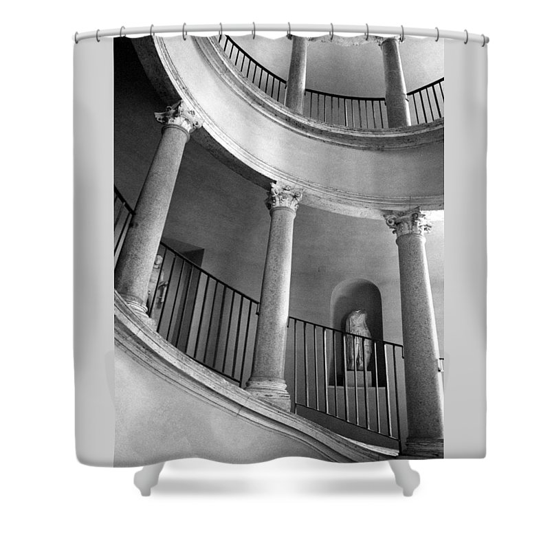 Italy Shower Curtain featuring the photograph Roman Staircase by Donna Corless