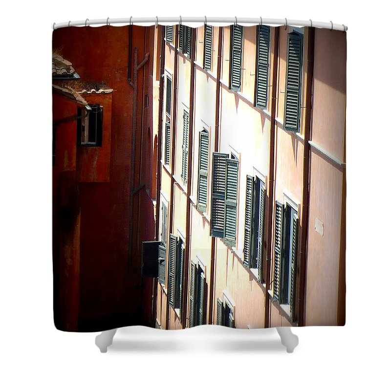 Rome Shower Curtain featuring the photograph Roman Windows by Carol Groenen