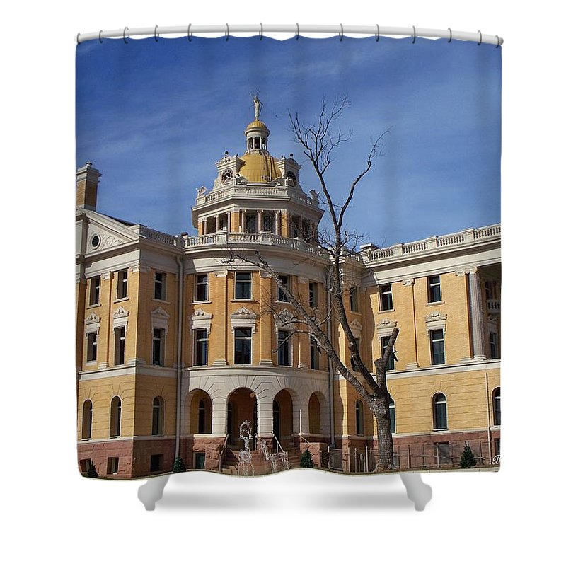 Architecture Shower Curtain featuring the photograph Romanesque by Betty Northcutt
