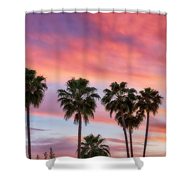 Romantic Shower Curtain Featuring The Photograph Hot Tropical Night Panorama View By James BO Insogna