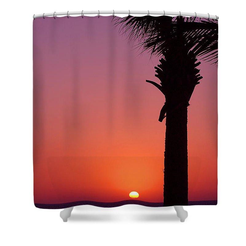 Sunsets Shower Curtain featuring the photograph Romantic Sunset by Susanne Van Hulst