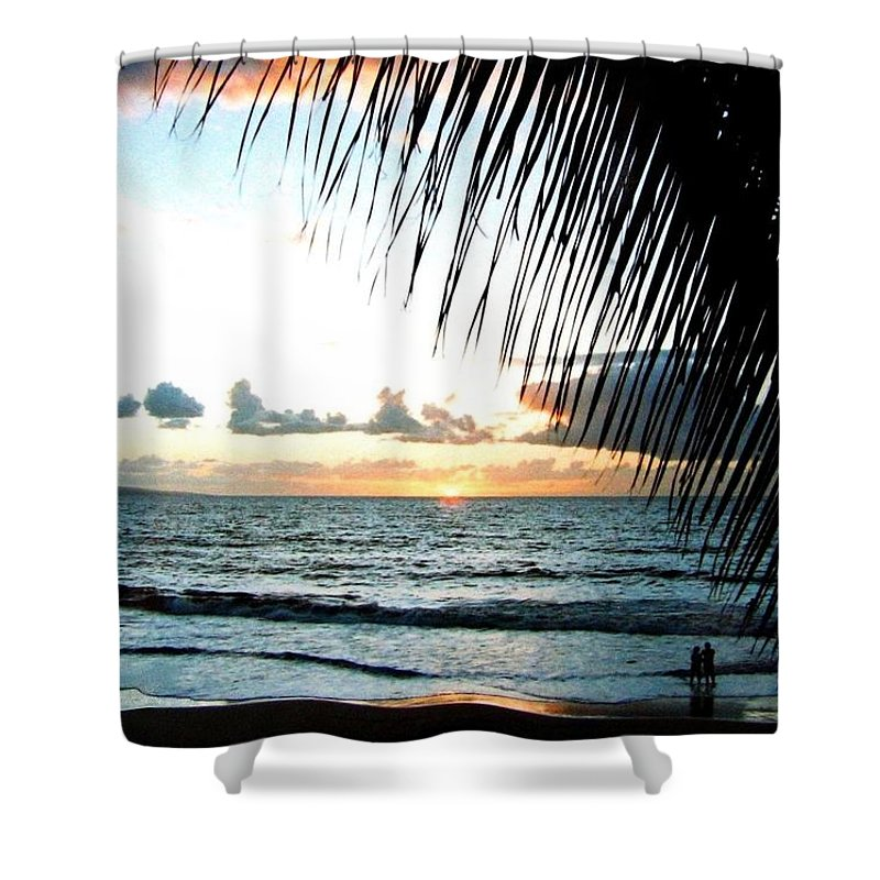 1986 Shower Curtain featuring the photograph Romantic Sunset by Will Borden