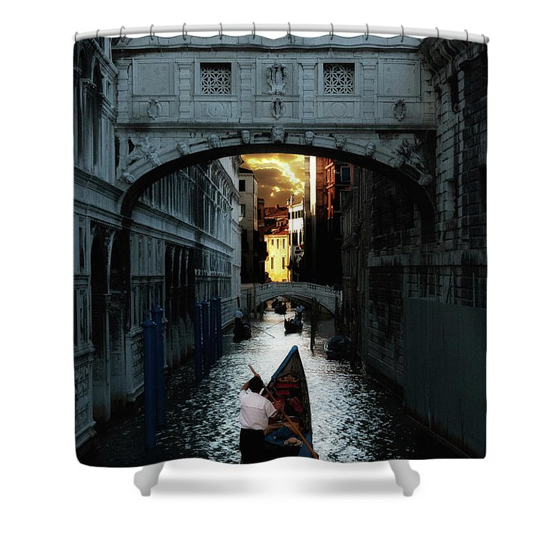 Venice Shower Curtain featuring the photograph Romantic Venice by Harry Spitz
