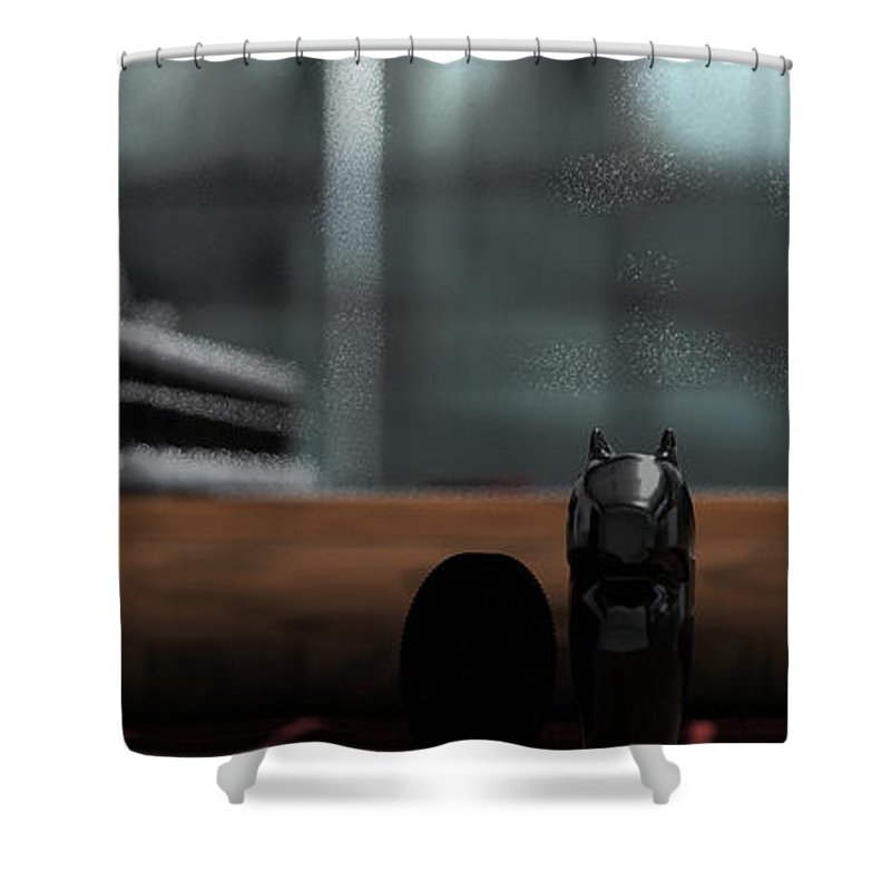 Romeo And Juliet Shower Curtain featuring the digital art Romeo And Juliet by James Barnes