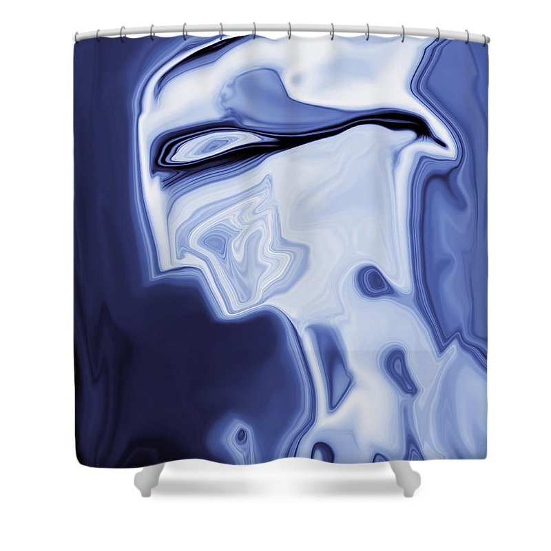 Art Shower Curtain featuring the digital art Romeo by Rabi Khan