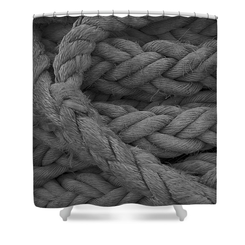 Rope Shower Curtain featuring the photograph Rope I by Henri Irizarri