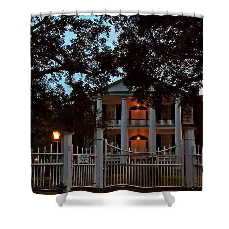 Rosalie Mansion Shower Curtain featuring the photograph Rosalie Mansion by Ben Prepelka