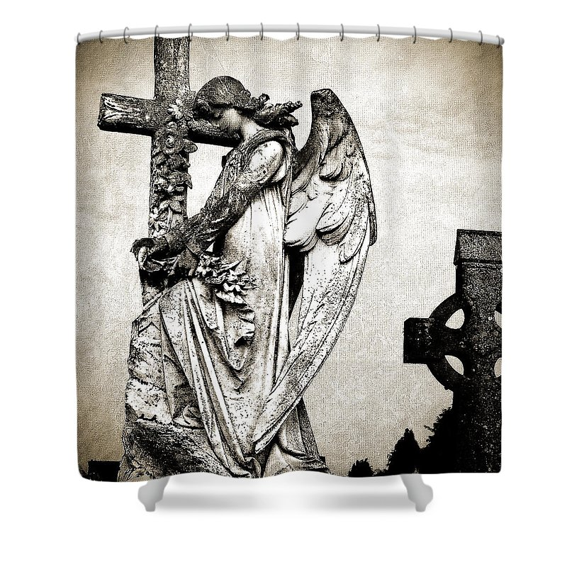 Ireland Shower Curtain featuring the photograph Roscommon Angel No 1 by Teresa Mucha