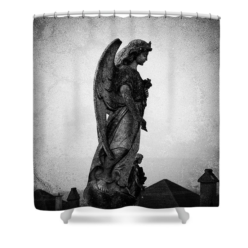 Roscommon Shower Curtain featuring the photograph Roscommonn Angel No 4 by Teresa Mucha