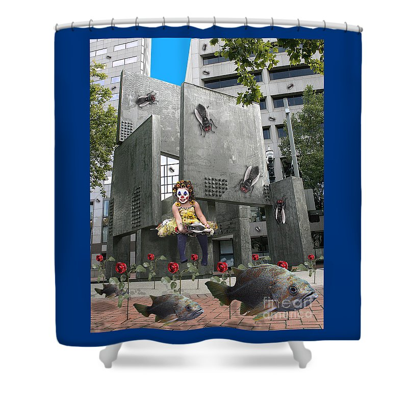 Girl Shower Curtain featuring the digital art Rose City by Keith Dillon