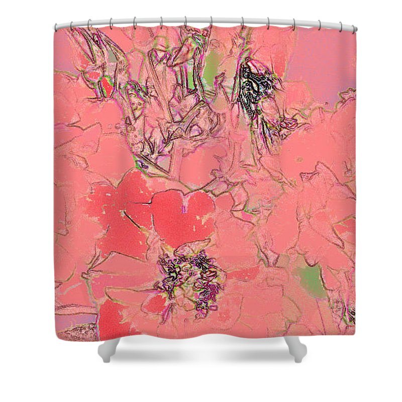Rose Shower Curtain featuring the digital art Rose Diffused by Ian MacDonald