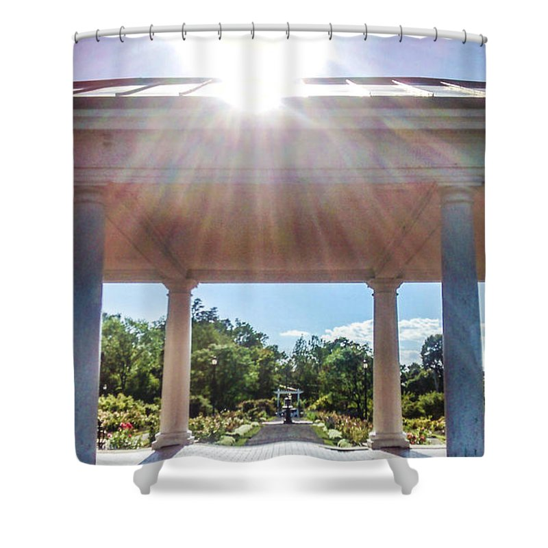 Garden Shower Curtain featuring the photograph Rose Garden At Delaware Park by Jay Wollin