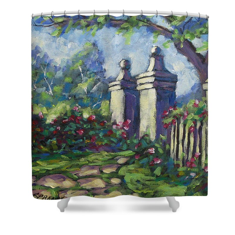 Rose Shower Curtain featuring the painting Rose Garden by Richard T Pranke