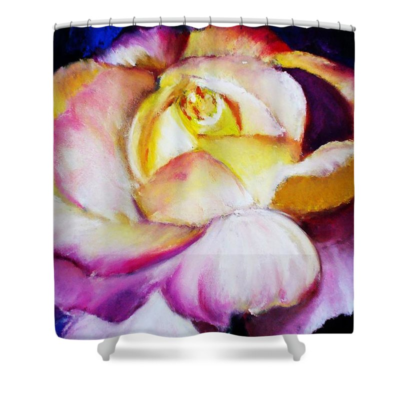 Rose Shower Curtain featuring the print Rose by Melinda Etzold