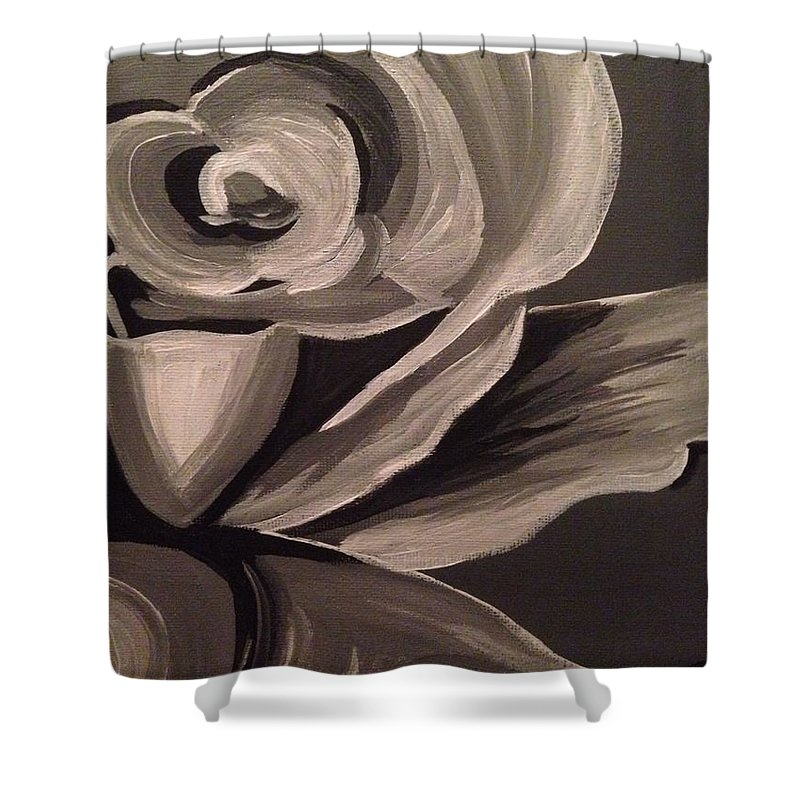 Rose Shower Curtain featuring the painting Rose by Monica Liptak