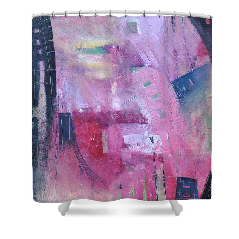Rose Shower Curtain featuring the painting Rose Room by Tim Nyberg