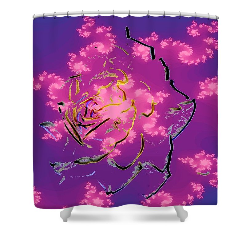 Rose Shower Curtain featuring the digital art Rose by Tim Allen