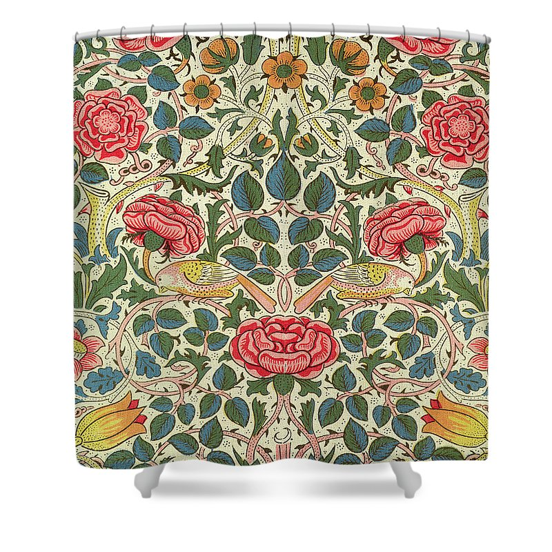 Rose Shower Curtain For Sale By William Morris